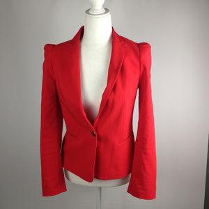 Red Zara Basic Blazer size small